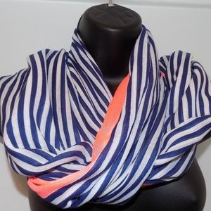 Gorjana Scarf Blue and Pink Stripes OS